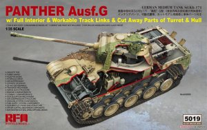 RYERM-5019 - Rye Field Model 1/35 Panther Ausf.G w/Full Interior & Workable Track Links and Cut Away Parts of Turrent and Hull
