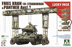 TKM2108 - Takom 1/35 FRIES KRAN & PANTHER AUSF. RANDOM PANTHER VARIANT INCLUDED