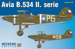 EDU7448 - Eduard Models 1/72 AVIA B.534 II.SERIES [WEEKEND ED]