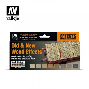 VLJ71187 - Vallejo Type - Effects Set: Old & New Wood Effects (8 pieces) - Acrylic / Water Based