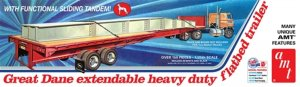 AMT1111 - AMT 1/25 GREAT DANE FLATBED TRAILER