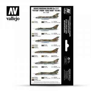 "VLJ71604 - Vallejo Type - Air War Sets: Soviet/Russian colors Su-7/17 ""Fitter"" from ""Cold War"" to 90's (8 pieces) - Acrylic / Water Based"