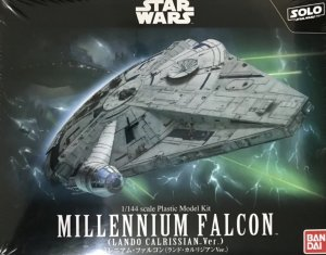 BAN0225754 - Bandai 1/144 Star Wars: Solor Millennium Falcon (Lando Calrissian Version)