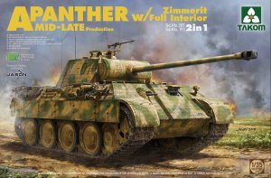 TKM2100 - Takom 1/35 PANTHER A W/ZIMMERT/FULL INT MID-LATE PRODUCTION