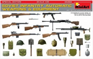 MIA35268 - Miniart 1/35 Soviet Infantry Automatic Weapons and Equipment [Special Edition]