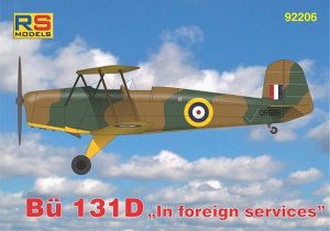 RSM92206 - RS Models 1/72 BUCHER BU 131D FOREIGN SERVICES