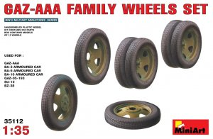 MIA35112 - Miniart 1/35 GAZ-AAA Family Wheels Set