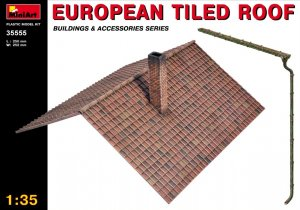 MIA35555 - Miniart 1/35 European Tiled Roof
