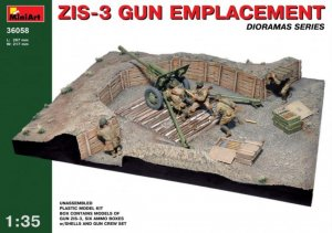 MIA36058 - Miniart 1/35 ZIS-3 Gun Emplacement - Dioramas Series