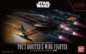 BAN0219752 - Bandai 1/72 Star Wars: Poe's Boosted X-Wing Fighter - The Last Jedi