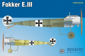 EDU7444 - Eduard Models 1/72 FOKKER E.III [WEEKEND ED.]