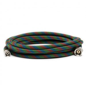 "IWABT010 - Iwata 10' Braided Nylon Airbrush Hose with Iwata Airbrush Fitting and 1/4"" Compressor Fitting"