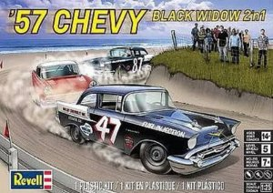 REV85-4441 - Revell 1/25 1957 Chevy Black Widow 2 'n 1