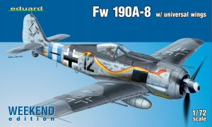 EDU7443 - Eduard Models 1/72 FW 190A-8 W/ UNIV. WINGS [WEEKEND]