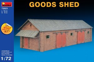 MIA72023 - Miniart 1/72 Goods Shed - Multi-Colored Kit