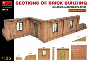 MIA35552 - Miniart 1/35 Sections of Brick Building