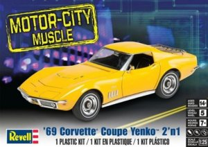 REV85-4411 - Revell 1/25 1969 Corvette Coupe Yenko 2 'n 1 - Motor-City Muscle Series