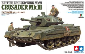 TAM37025 - Tamiya 1/35 CRUSADER MK.III ITALERI KIT W/NEW PARTS