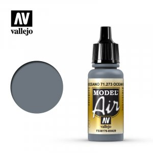 VLJ71273 - Vallejo Type - Model Air: Ocean Grey - 17mL Bottle - Acrylic / Water Based