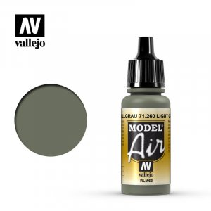 VLJ71260 - Vallejo Type - Model Air: Light Grey - 17mL Bottle - Acrylic / Water Based