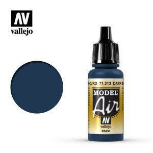 VLJ71313 - Vallejo Type - Model Air: Dark Mediterranean Blue - 17mL Bottle - Acrylic / Water Based