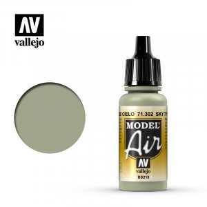VLJ71302 - Vallejo Type - Model Air: Sky Type S - 17mL Bottle - Acrylic / Water Based