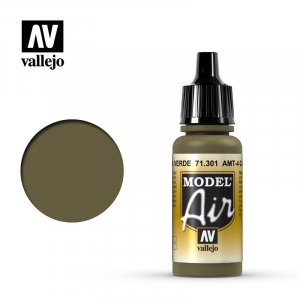 VLJ71301 - Vallejo Type - Model Air: AMT-4 Camouflage Green - 17mL Bottle - Acrylic / Water Based