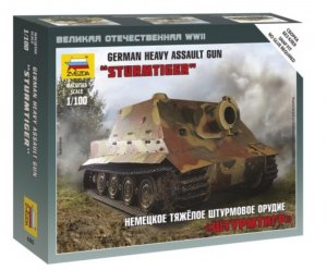 ZVE6205 - Zvezda 1/100 Sturmtiger - German Heavy Assault Gun - Snap Fit