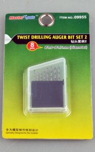 TRP09955 - Trumpeter Twist Drilling Auger Bit Set #2 (8 Drill Bits - 1.0 - 1.7 mm)