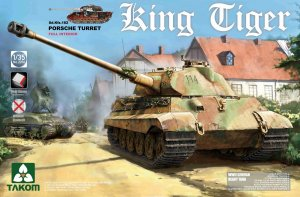 TKM2074 - Takom 1/35 KING TIGER - PORSCHE FULL INTERIOR KIT