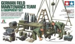 TAM37023 - Tamiya 1/35 GERMAN FIELD MAINTENANCE W/ EQUIPMENT SET