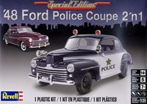 REV85-4318 - Revell 1/25 1948 Ford Police Coup 2 'n 1 - Special Edition