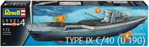 REV05133 - Revell 1/72 German Submarine Type IX C/40 (U190)