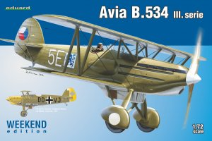 EDU7429 - Eduard Models 1/72 AVIA B.534 III SERIES [WEEKEND ED]