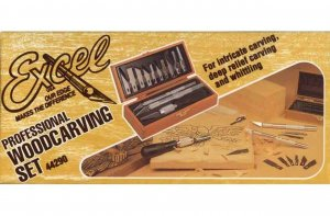 EXC44290 - Excel Professional Woodcarving Set ( K1, K2 and K7 Handles wit Assorted Blades and Gouges )