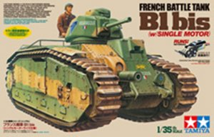 TAM30058 - Tamiya 1/35 B1BIS FRENCH HEAVY TANK *MOTORIZED KIT*