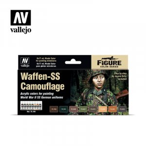 VLJ70180 - Vallejo Type - Figure Sets: Waffen-SS Camouflage (8 pieces) - Acrylic / Water Based