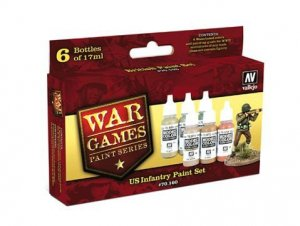 VLJ70160 - Vallejo Type - Wargames Sets: US Infantry (6 pieces) - Acrylic / Water Based