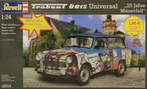 "REV02014 - Revell 1/24 Trabant 601S Universal 25 YEARS FALL OF BERLIN WALL / ""25 Jahre Mauerfall"""