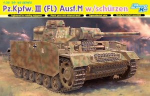 DRA6776 - Dragon 1/35 Pz.Kpfw.III (Fl) Ausf.M w/Schurzen - Smart Kit - '39-'45 Series