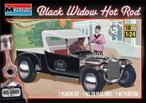 MON85-4324 - Monogram 1/24 Black Widow Hot Rod (Car Show Series)