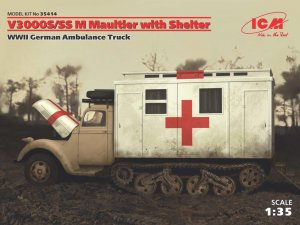 ICM35414 - ICM 1/35 V3000S/SS M Maultier with Shelter - WW II German Ambulance Truck