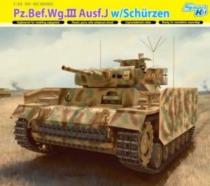 DRA6570 - Dragon 1/35 Pz.Bef.Wg.III Ausf.J w/Schurzen - Smart Kit - '39-'45 Series