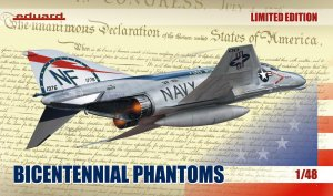 "EDU1190 - Eduard Models 1/48 ""BICENTENNIAL PHANTOMS"" [LTD.ED.] ACADEMY F-4 PHANTOM II"