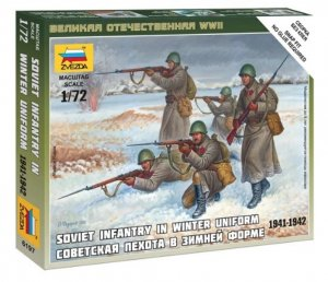ZVE6197 - Zvezda 1/72 Soviet Infantry in Winter Uniform 1941-1942 - Snap Fit