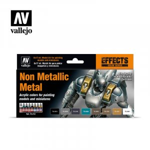 VLJ72212 - Vallejo Type - Effects Set: Non Metallic Metal (8 pieces) - Acrylic / Water Based