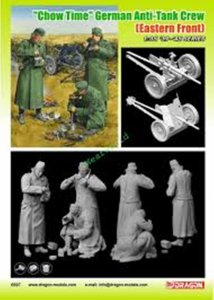 DRA6697 - Dragon 1/35 Chow Time - German Anti-Tank Gun Crew (Eastern Front) w/3.7cm PaK 35/36 - '39-'45 Series