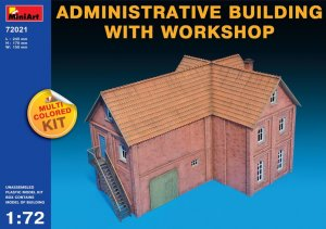 MIA72021 - Miniart 1/72 Administrative Building With Workshop - Multi-Colored Kit