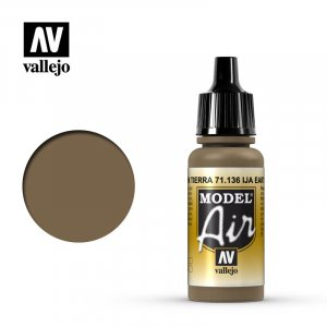 VLJ71136 - Vallejo Type - Model Air: IJA Earth Brown - 17mL Bottle - Acrylic / Water Based