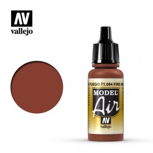 VLJ71084 - Vallejo Type - Model Air: Fire Red - 17mL Bottle - Acrylic / Water Based